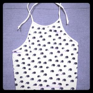 🐘 White Elephant 🐘 Halter Crop Top 🐘
